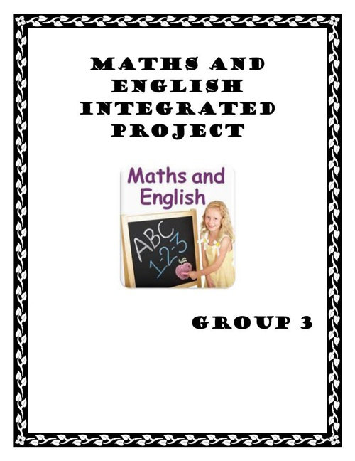 MATHS AND ENGLISH INTEGRATED PROJECT