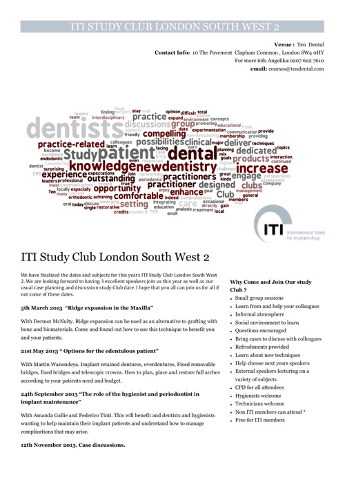 ITI study Club London South West 2