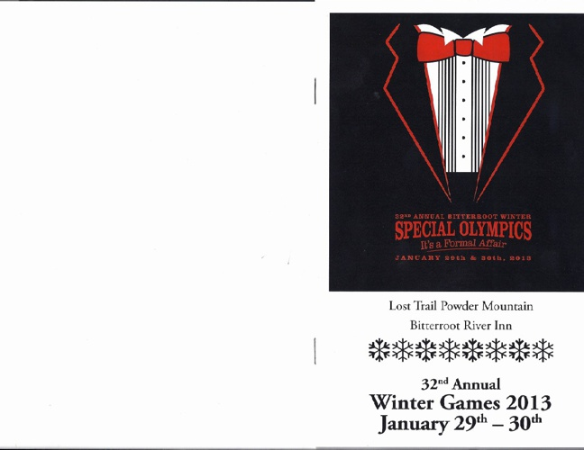 32nd Annual Winter Games Bitterroot Winter Games Program