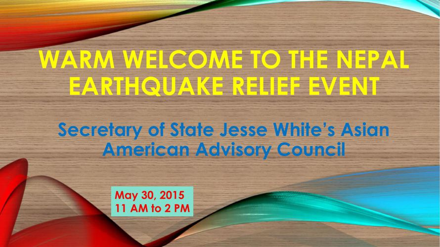 Nepal Earthquake Relief Event May 30, 2015 in Chicago