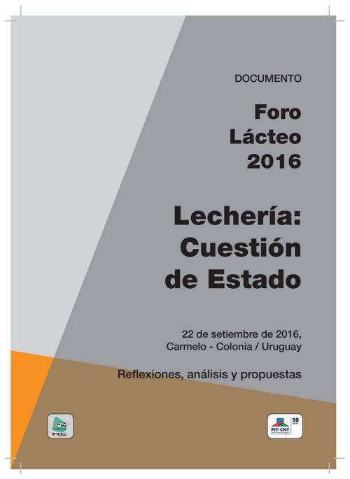 Documento FORO LACTEO 2016