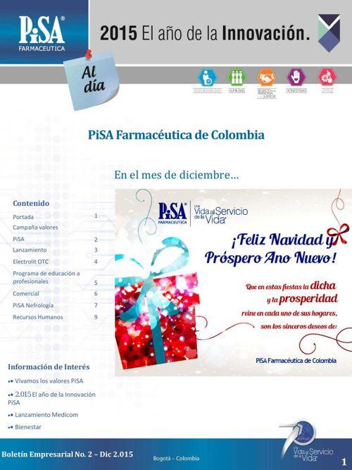Boletín Informativo PiSA Farmacéutica de Colombia