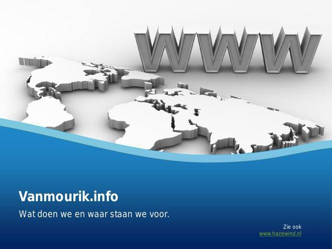 Het domein www.vanmourik.info u bent geïnteresseerd