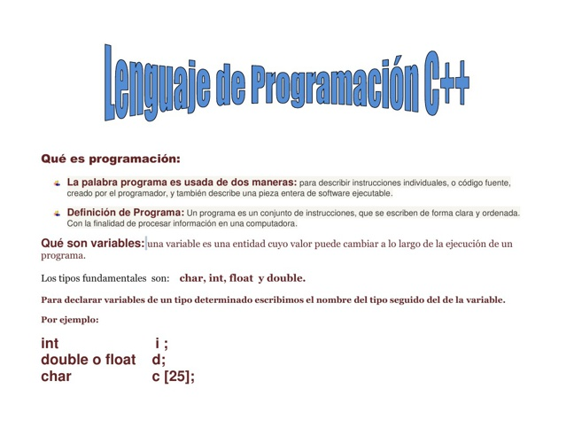 Programación C++