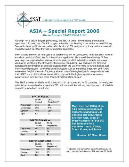 Asia: Special Report 2007