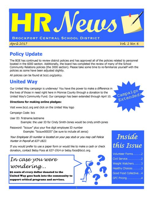2017 April HR NEWS