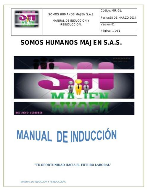 MANUAL DE INDUCCION Y REINDUCCION