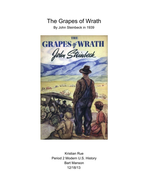 an analysis of injustice in the grapes of wrath by john steinbeck