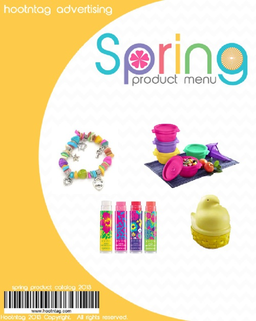 Hoot's Spring Product Menu