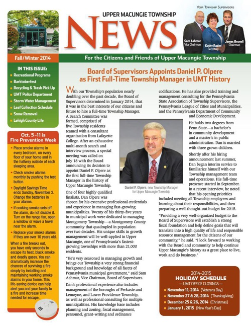 UMT 2014 Fall Newsletter