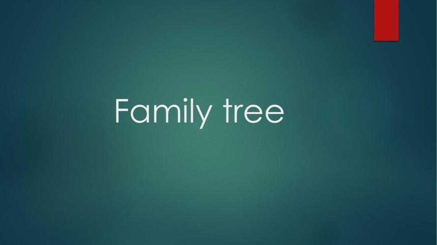 Family treedav