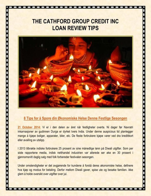 The Cathford Group Credit Inc Loan Review Tips