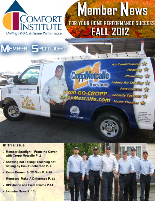 2012 Comfort Institute Fall Newsletter