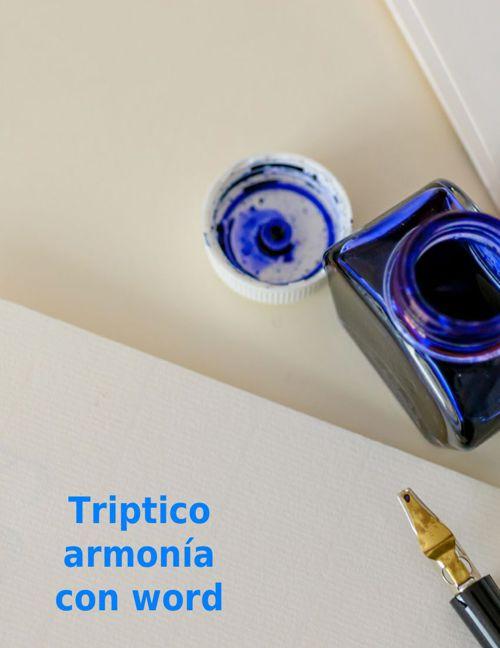 Triptico armonia en word
