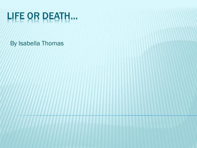 Isabella's Thomas