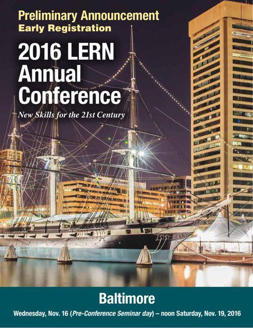 2016 LERN Annual Conference Preliminary Brochure