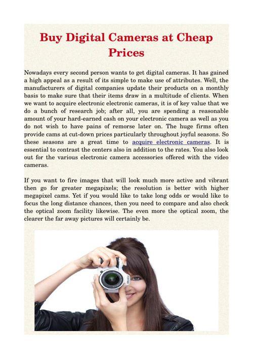 Buy Digital Cameras at Cheap Prices