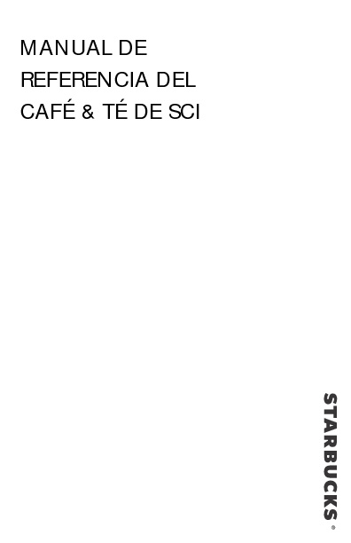 Manual de Referencia // Café & Té de SCI