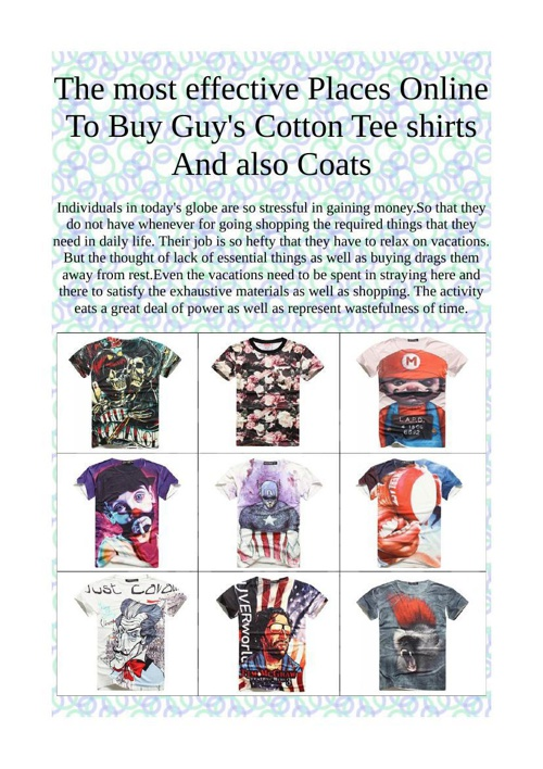 The most effective Places Online To Buy Guy's Cotton Tee shirts