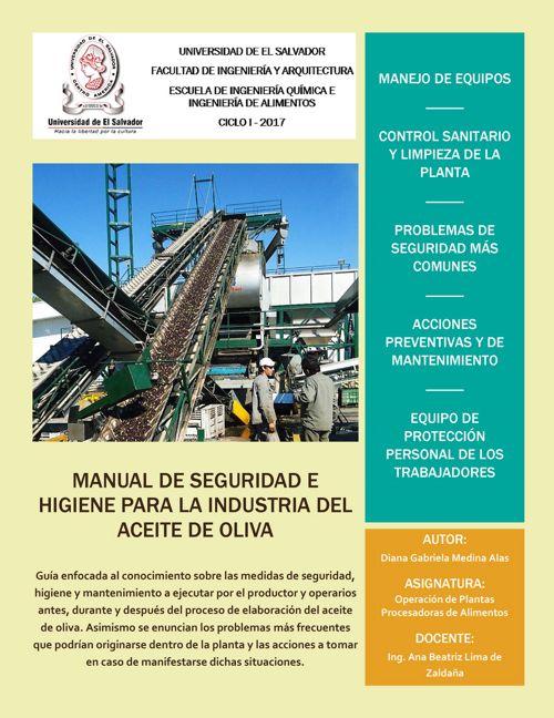 Manual Seguridad e higiene para la industria aceite oliva