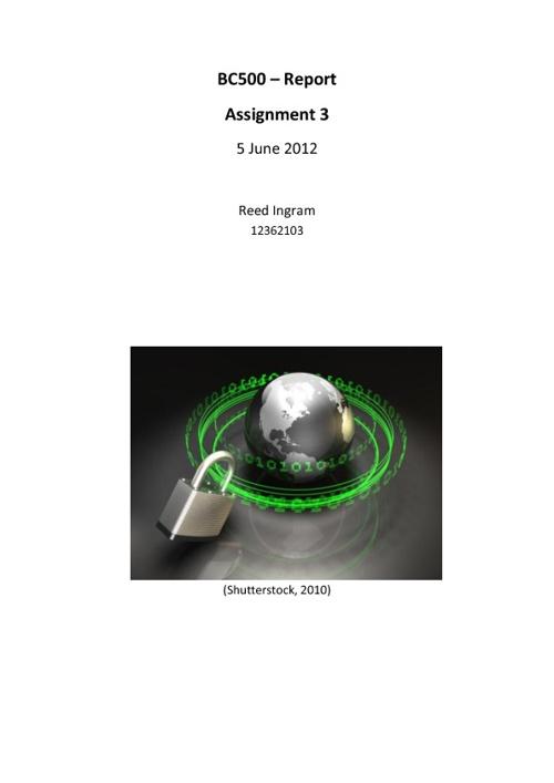 Report Internet Security