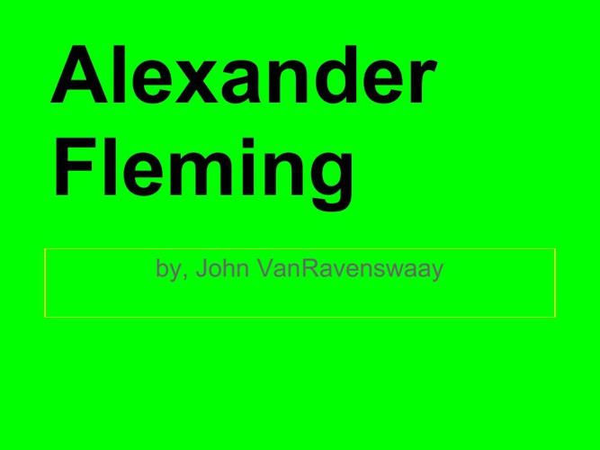 p.5 Vanravenswaay Fleming.