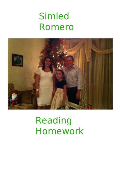Simled Romero Reading Homework