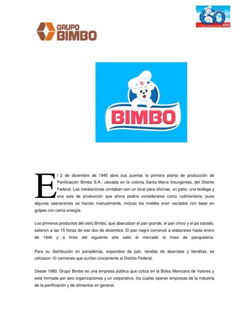 GRUPO BIMBO MPPL