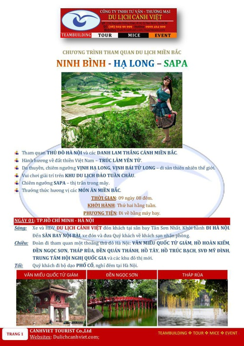 NINH BINH-HA LONG-SAPA-9M8D-MAYBAY