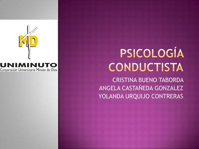 Psicologia Conductiva