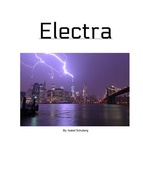 Electra: Super Hero story