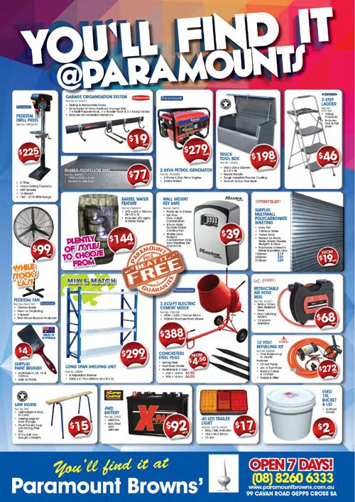 Paramount Browns Catalogue
