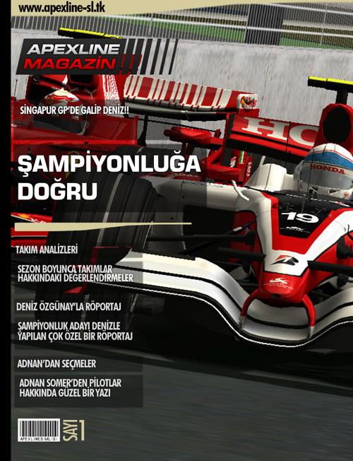 2012 Apexline F1 Simülasyon Ligi Dergisi Sayı 1