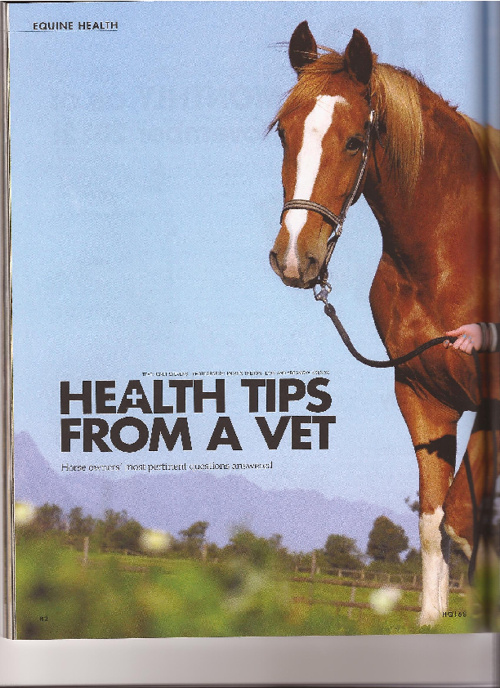 Vet Tips - Horse Quarterly