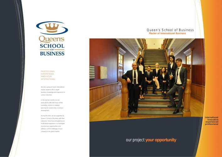 Consulting Project - Queen's School of Business 15/16