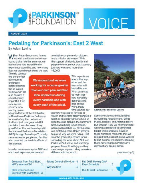 Summer 2015 Voice Newsletter
