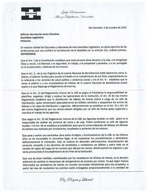 Llamar a la Comisión de Hacienda al Presidente de LNB expliq