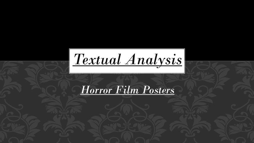 Textual Analysis - Film Posters