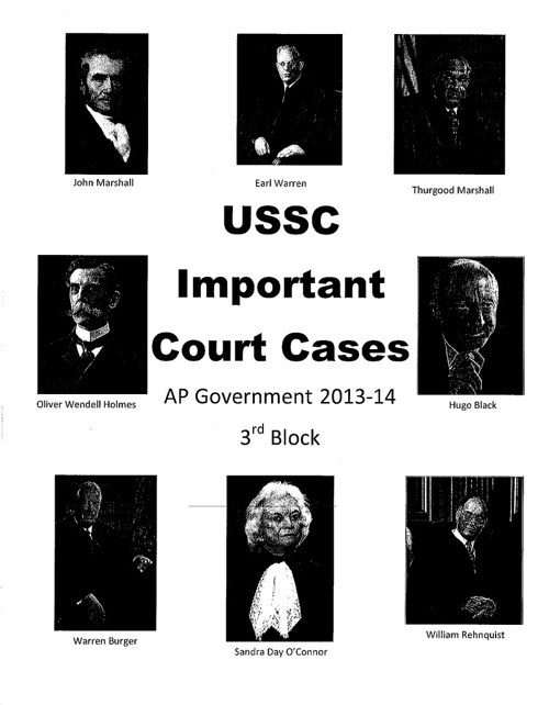 Important USSC Cases Booklet - 3rd Block