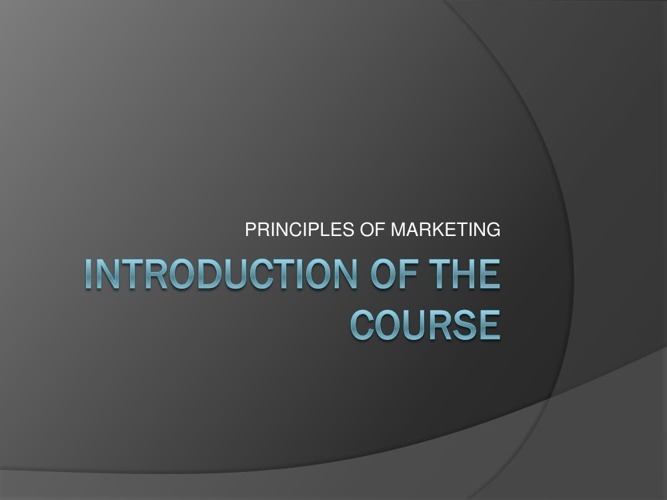 EBP1013 COURSE INTRODUCTION