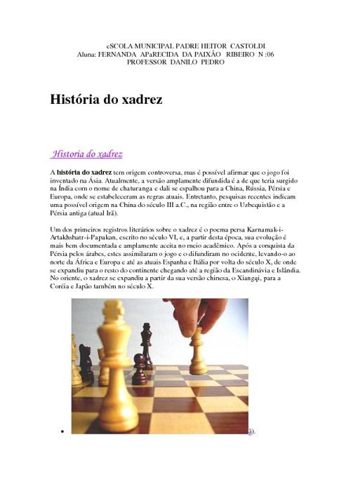 XADREZ - FERNANDA