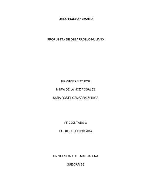 Propuesta Desarrollo Humano