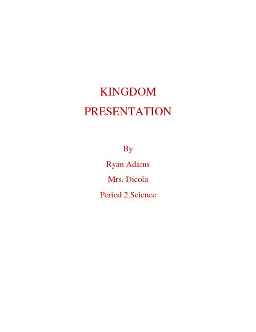 Kingdom Presentation 2