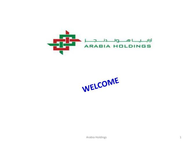 Arabia Holdings Presentation - updated