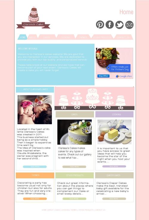Clarissa's Website Design