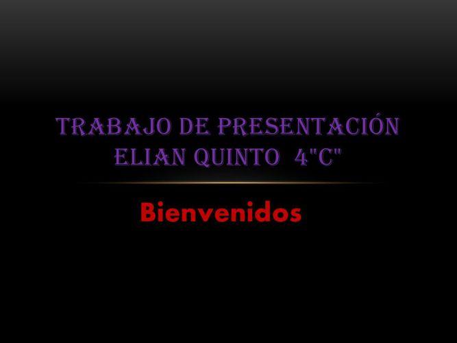 Trabajo de presentación ELIAN QUINTO