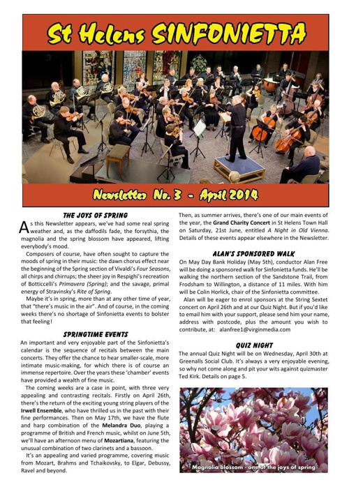 Sinfonietta Newsletter 3