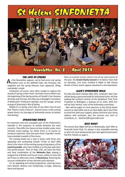 Sinfonietta Newsletter 3