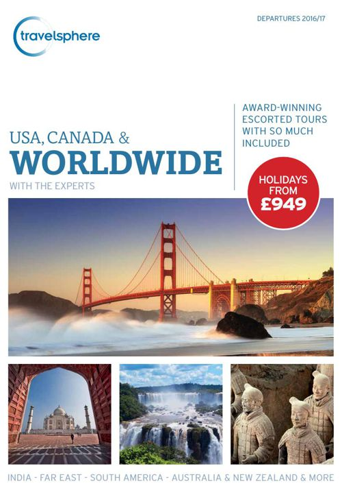 Travelsphere USA, Canada & Worldwide 2016-17 Brochure - Dec 2015