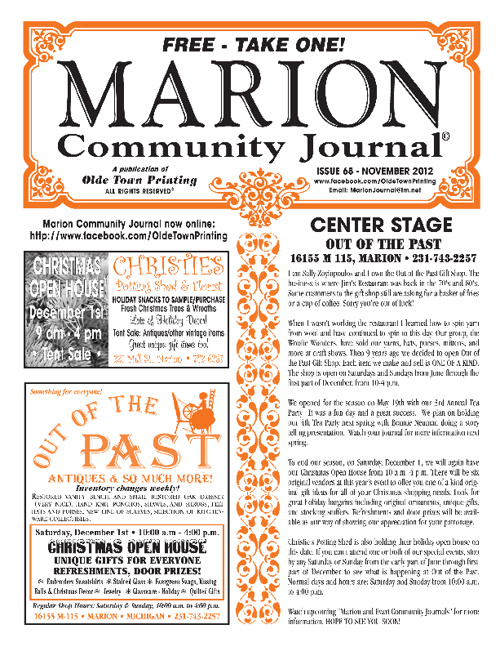 Nov. 2012 Marion Journal